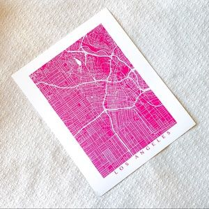 Los Angeles map of the city print art